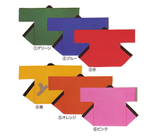 [0487] カラー無地袢天 天竺(帯付き)