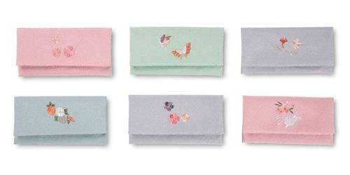 [804] エステルちりめん念珠袋(刺繍入り)